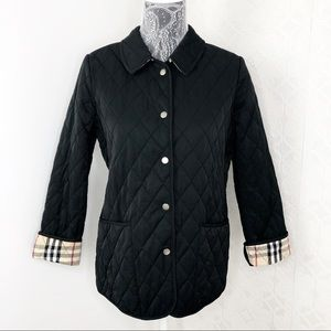 Burberry London Black Quilted Nova Check Jacket